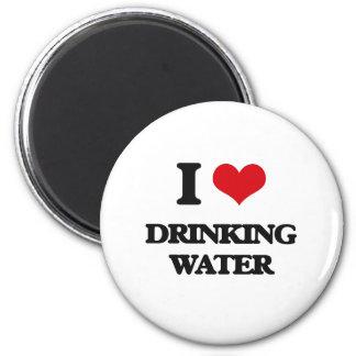 Amo el agua potable imanes para frigoríficos