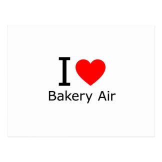 Amo el aire de la panadería tarjeta postal