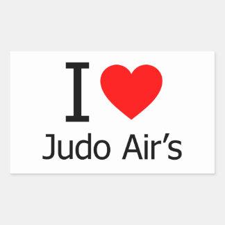 Amo el aire del judo pegatinas