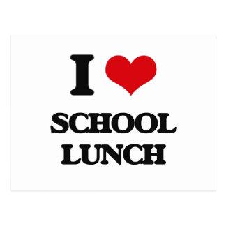 Amo el almuerzo escolar postal