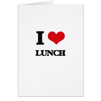 Amo el almuerzo felicitaciones