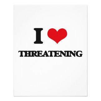 Amo el amenazar folleto 11,4 x 14,2 cm