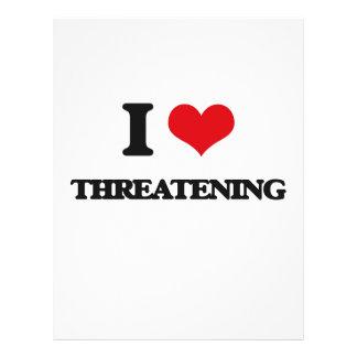 Amo el amenazar folleto 21,6 x 28 cm