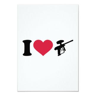 Amo el arma de Paintball Anuncio Personalizado