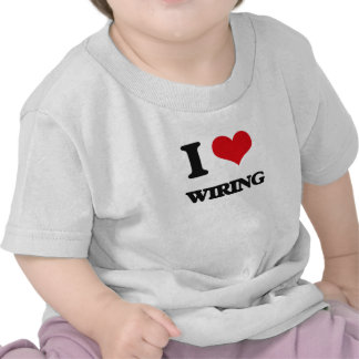 Amo el atar con alambre camiseta
