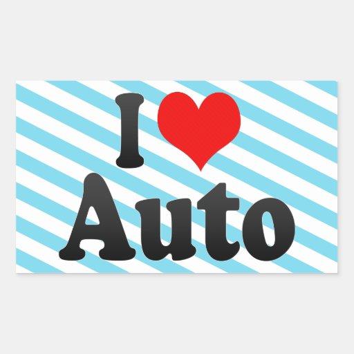 Amo el auto rectangular altavoz