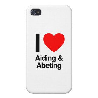amo el ayudar y el abeting iPhone 4/4S carcasas