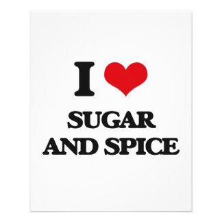 Amo el azúcar y la especia folleto 11,4 x 14,2 cm