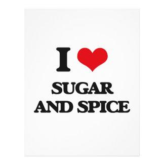 Amo el azúcar y la especia folleto 21,6 x 28 cm