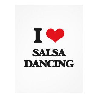 Amo el baile de la salsa folleto 21,6 x 28 cm