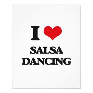 Amo el baile de la salsa folleto 11,4 x 14,2 cm