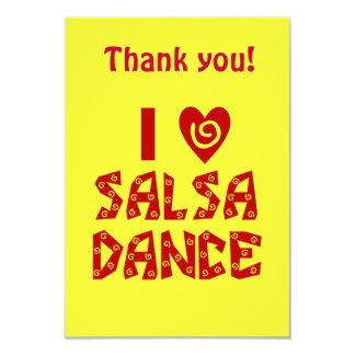 Amo el baile de la salsa le agradezco las tarjetas comunicados personalizados