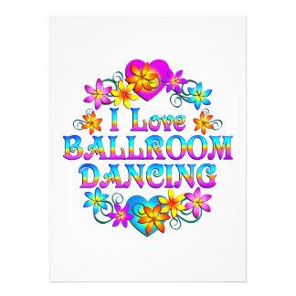 Amo el baile de salón de baile comunicado personalizado