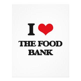 Amo el banco de alimentos folleto 21,6 x 28 cm