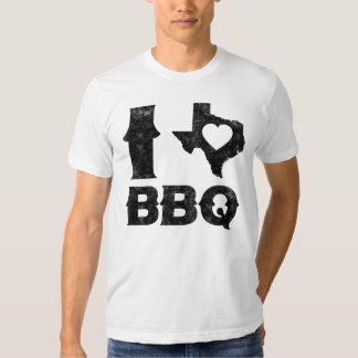 Amo el Bbq de Tejas Camiseta