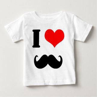 Amo el bigote camiseta de bebé