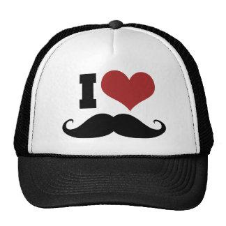 Amo el bigote gorros