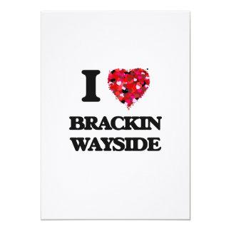 Amo el borde del camino la Florida de Brackin Invitación 12,7 X 17,8 Cm
