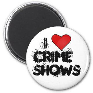 Amo el botón de las demostraciones del crimen imán redondo 5 cm