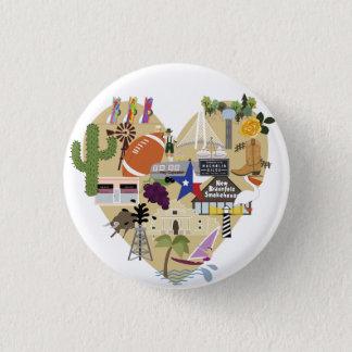 Amo el botón de Tejas