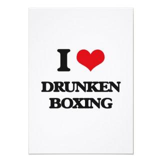 Amo el boxeo borracho invitaciones personalizada