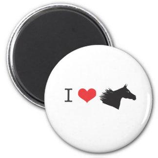 Amo el caballo imán redondo 5 cm