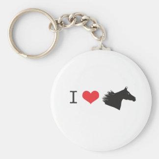 Amo el caballo llavero redondo tipo chapa