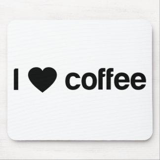 Amo el café alfombrilla de ratón