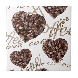 "¡""Amo el café! "" Azulejo De Cerámica"