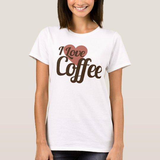 Amo el café camiseta
