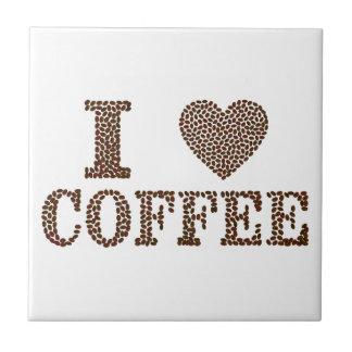 amo el café, coffeeholic azulejo