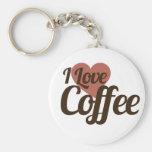 Amo el café llaveros personalizados