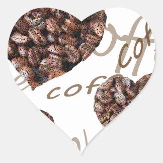 """¡""""Amo el café! """" Pegatina En Forma De Corazón"""