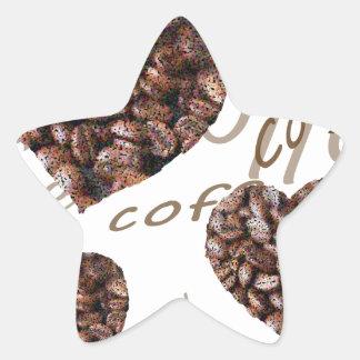¡Amo el café!! Pegatina En Forma De Estrella