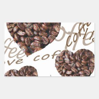 ¡Amo el café!! Pegatina Rectangular