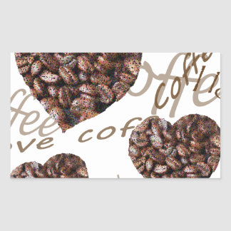 "¡""Amo el café! "" Pegatina Rectangular"