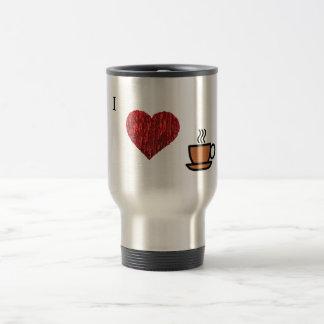 Amo el CAFÉ!!!!. Taza De Viaje