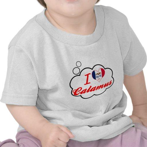 Amo el cálamo, Iowa Camisetas