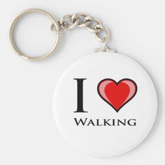 Amo el caminar llavero redondo tipo chapa