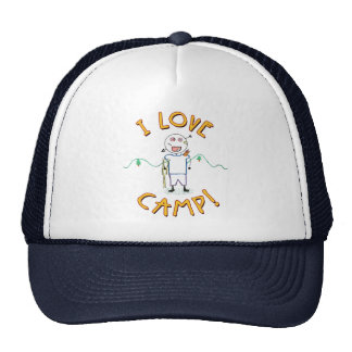 Amo el campo - campamento de verano divertido gorras de camionero