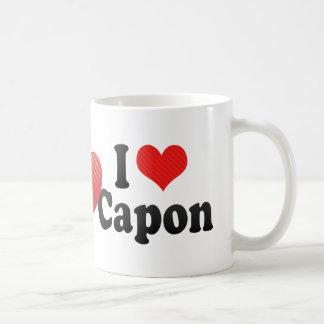 Amo el capón taza de café