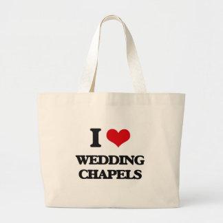 Amo el casar de capillas bolsa tela grande