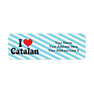 Amo el catalán etiqueta de remite