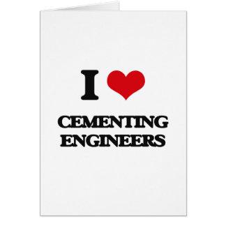 Amo el cementar de ingenieros tarjetón