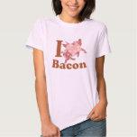 AMO el cerdo del vuelo del TOCINO Camisetas