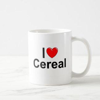 Amo el cereal (del corazón) taza de café