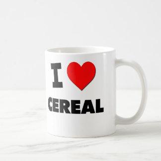 Amo el cereal (la comida) taza de café