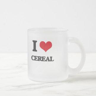 Amo el cereal tazas de café