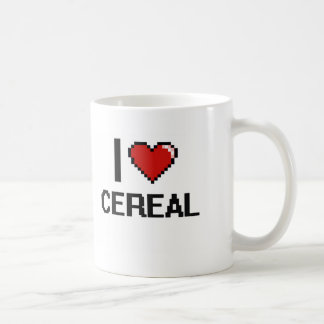 Amo el cereal taza básica blanca