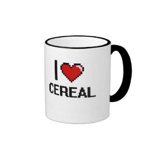 Amo el cereal taza a dos colores